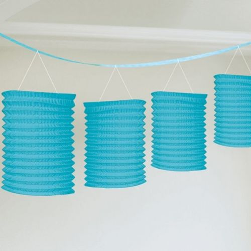 Turquoise Paper Lantern Garland Decoration (each)